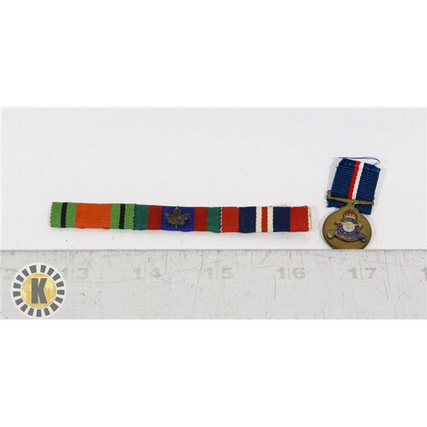 #425 LOT OF TWO CANADIAN MILITARY MEDAL BAR AND