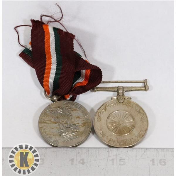 #438 LOT OF 2 PAKISTAN INDIA INDEPENDENCE MEDALS