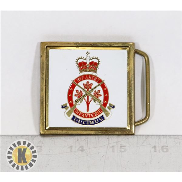 #441 CANADIAN INFANTRY MILITARY ARMY BELT BUCKLE