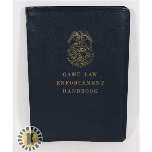 #445 GAME LAW ENFORCEMENT HANDBOOK USA 1965