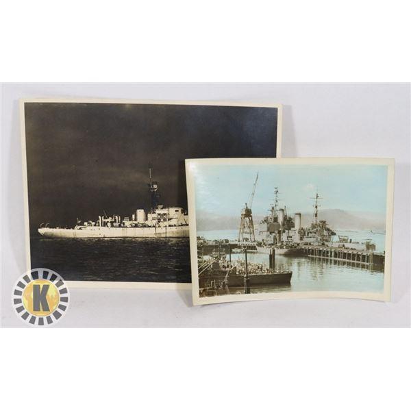 #450  WW2 OF 2 NAVY SHIP PHOTOS INCLUDING HMCS