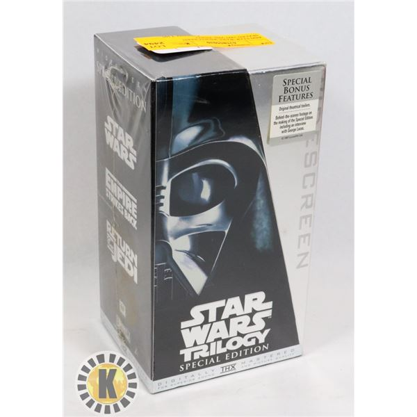 #490 STAR WARS WIDESCREEN SEALED 1997 VHS VIDEO