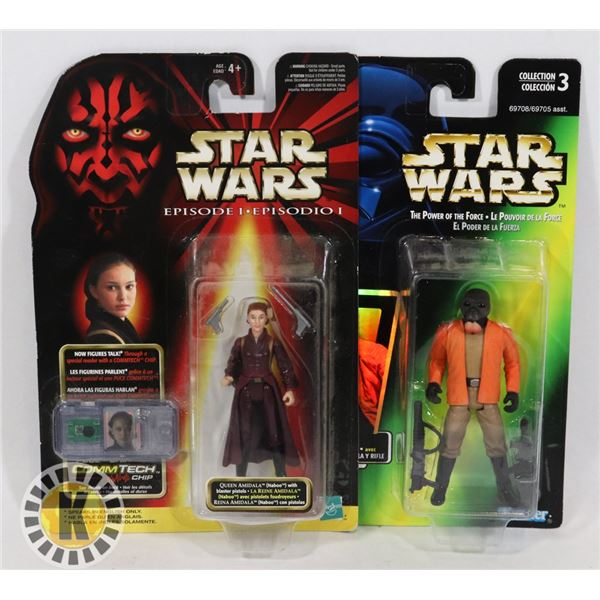 #498  STAR WARS OF 2 SEALED CARDED ACTION FIGURES
