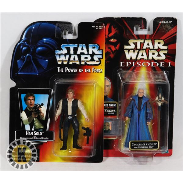 #499  STAR WARS OF 2 SEALED CARDED ACTION FIGURES