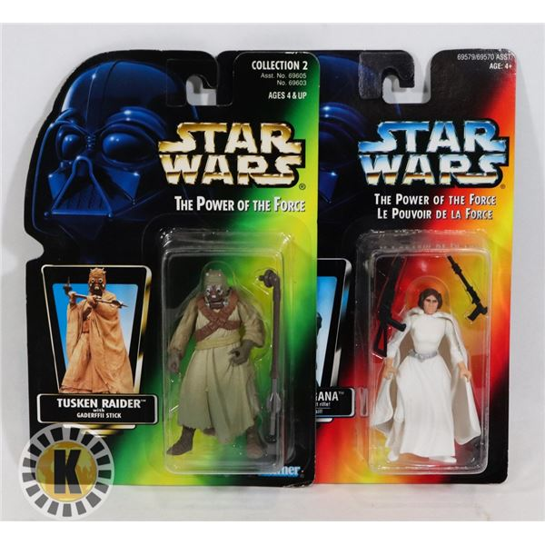 #501 STAR WARS OF 2 SEALED CARDED ACTION FIGURES