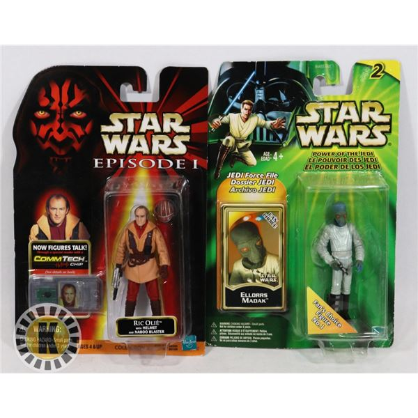 #502 STAR WARS OF 2 SEALED CARDED ACTION FIGURES