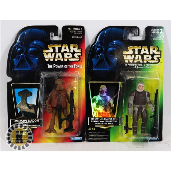 #504 STAR WARS OF 2 SEALED CARDED ACTION FIGURES