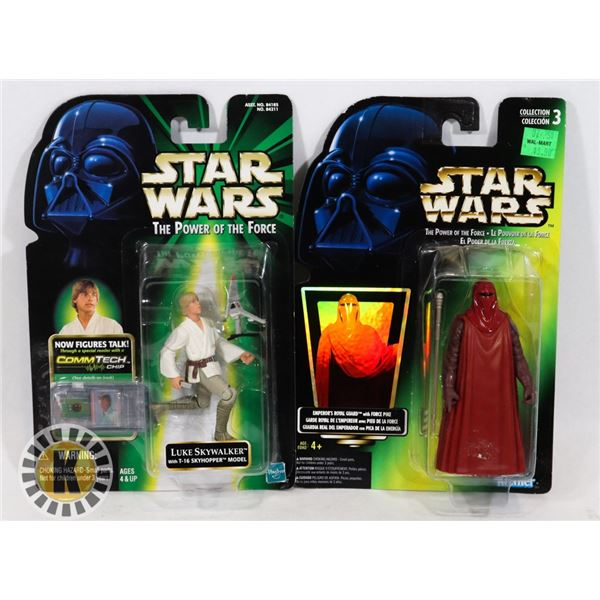 #505 STAR WARS OF 2 SEALED CARDED ACTION FIGURES