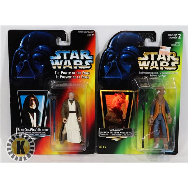#507 STAR WARS OF 2 SEALED CARDED ACTION FIGURES