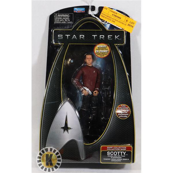 #510 CARDED ACTION FIGURE STAR TREK SCOTTY 2009
