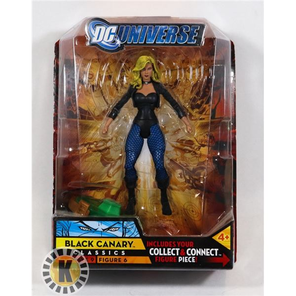 #514 CARDED ACTION FIGURE BLACK CANARY DC UNIVERSE