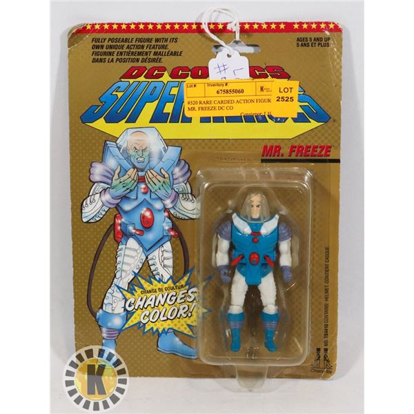#520 RARE CARDED ACTION FIGURE  MR. FREEZE DC CO