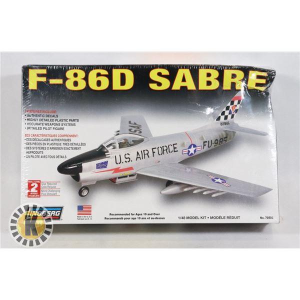 #524  SEALED MODEL KIT F-86D SABRE JET FIGHTER