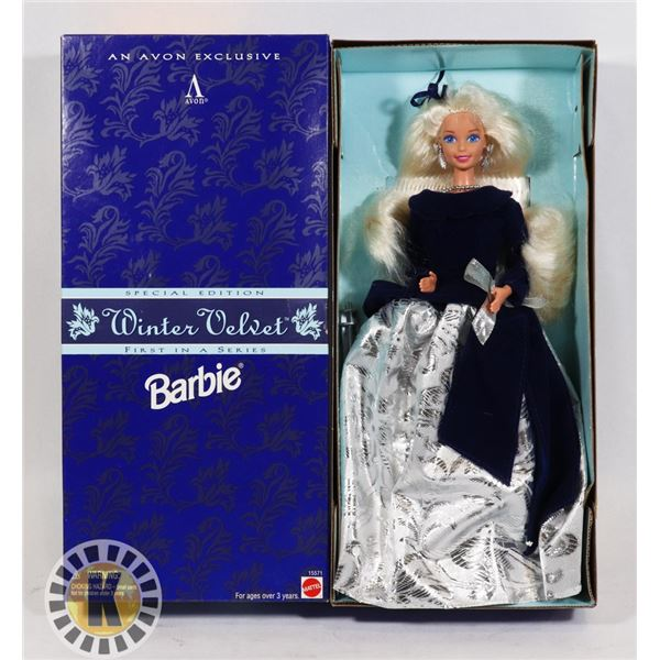 #529 BOXED WINTER VELVET BARBIE AVON EXCLUSIVE