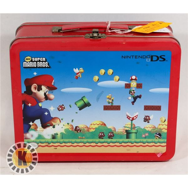 #539 SUPER MARIO BROTHERS NINTENDO DS LUNCH BOX