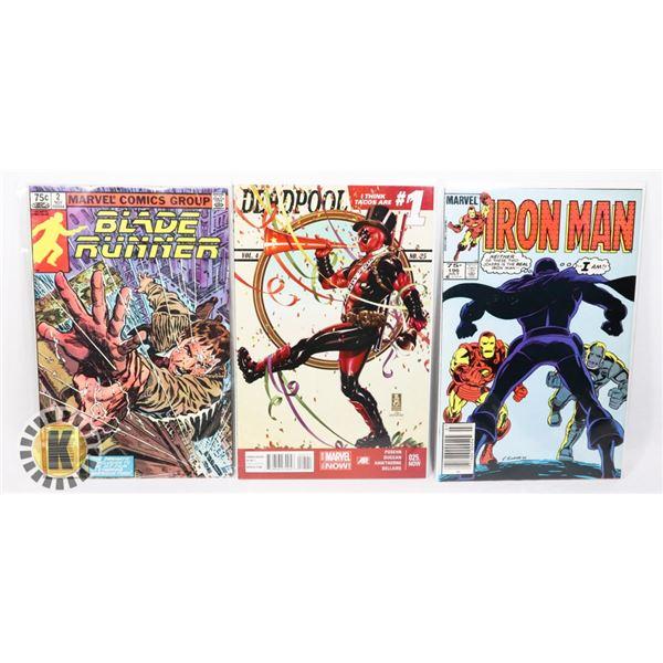 LOT OF THREE MARVEL COMICS INCLUDING
