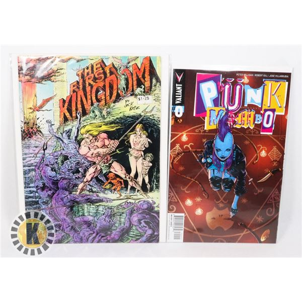 LOT OF TWO COMICS INCLUDING PUNK MAMBO #0