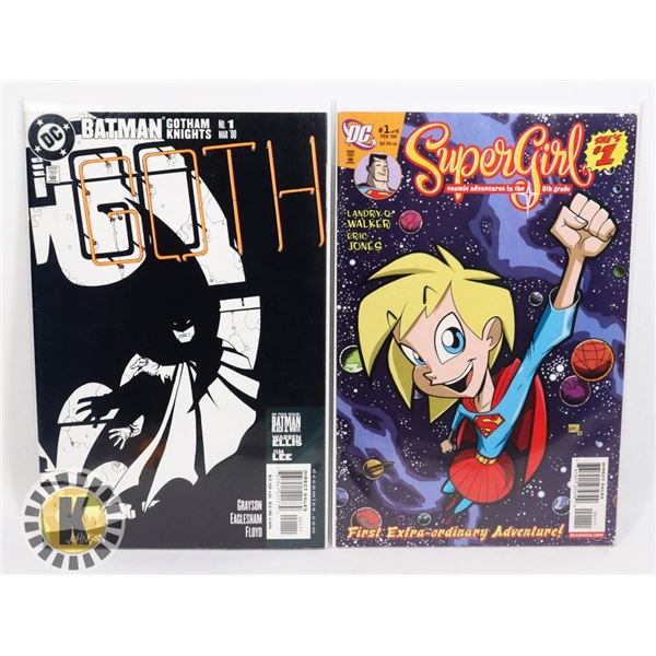 LOT OF TWO DC COMICS INCLUDING GOTH #1 AND,