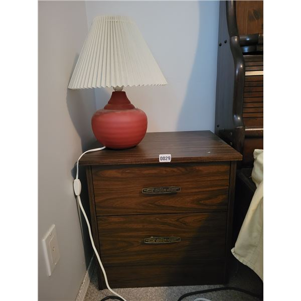 2 Bedside Tables with Matching Lamps