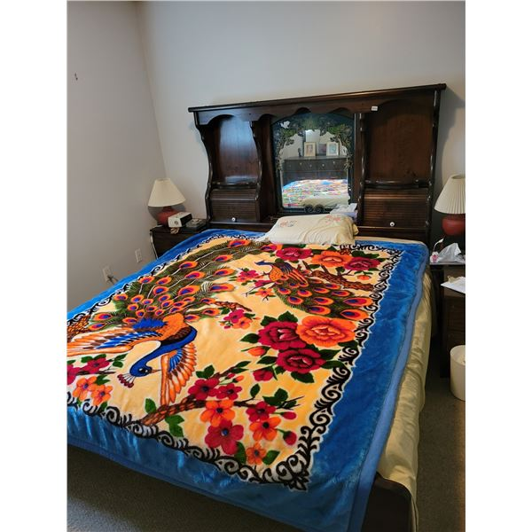 King Size Bed with Mattress and Bedding
