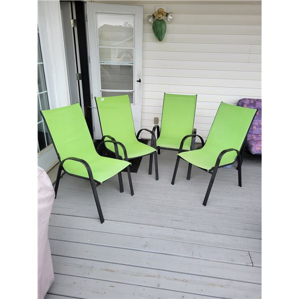 4 Lime Green Patio Chairs