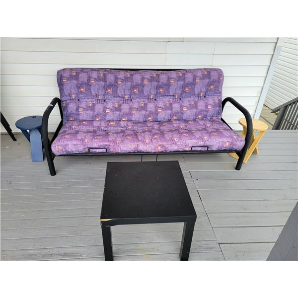 Futon with 3 Tables