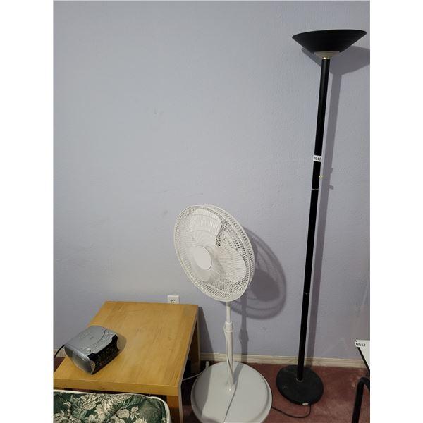Side Table - Floor Lamp - Fan - Clock Radio