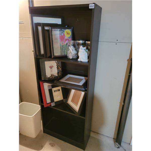 5' Shelf with Assorted Picture Frames