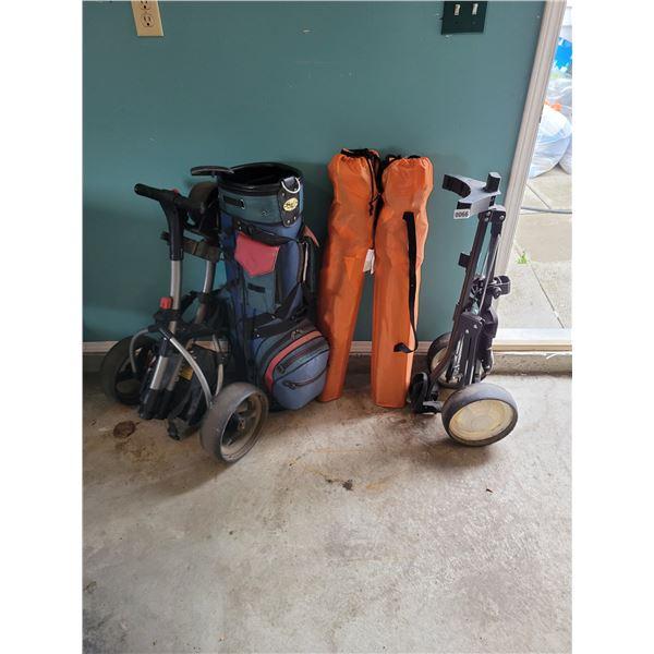 Motorcaddy - Golf Bag - Push Club Carrier - 2 Fold up chairs