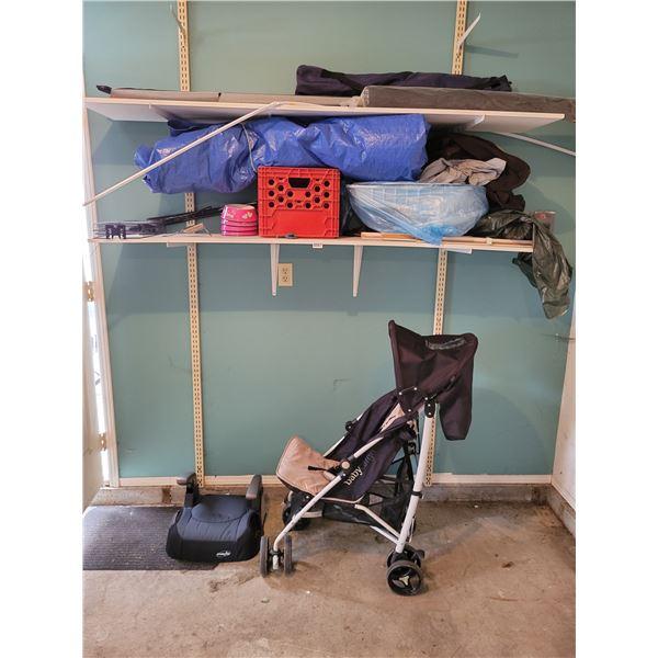 Stroller - Booster Seat - Milk Crates - Tarp - etc?