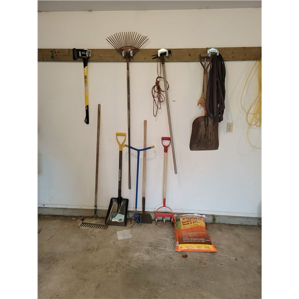 Various Garden Tools and Soil