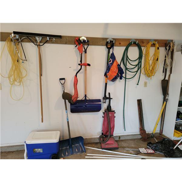 Various Garden Tools and Cooler