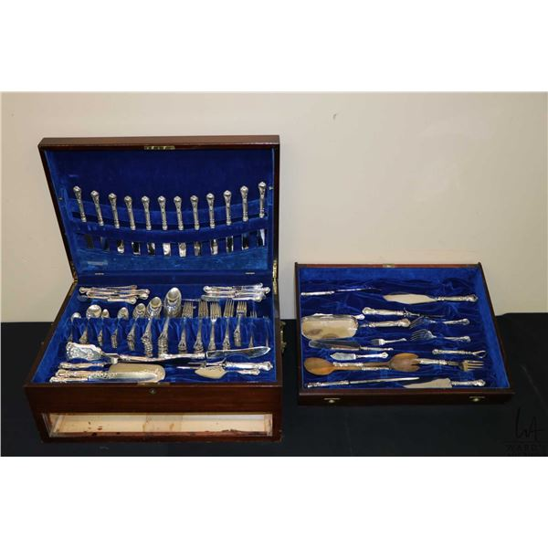 """Birks sterling silver """"Chantilly"""" flatware with settings for twelve including dinner knives, dinner"""