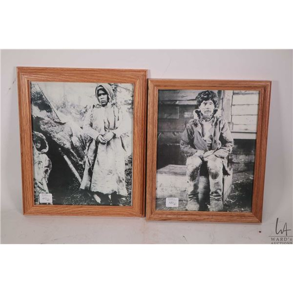 Two framed early 1900's photographs of Indigenous people from coastal Newfoundland area by A.A. Ches