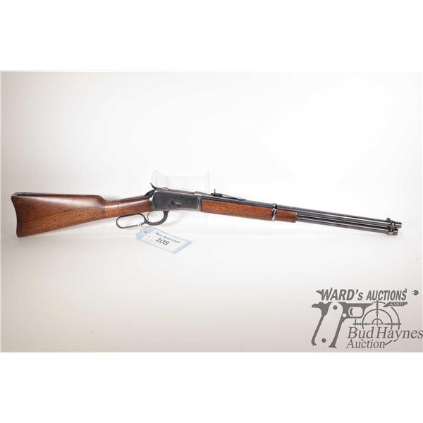 "Non-Restricted rifle Browning (Japan) model 92, 44 Rem Mag lever action, w/ bbl length 20"" [Blued ba"