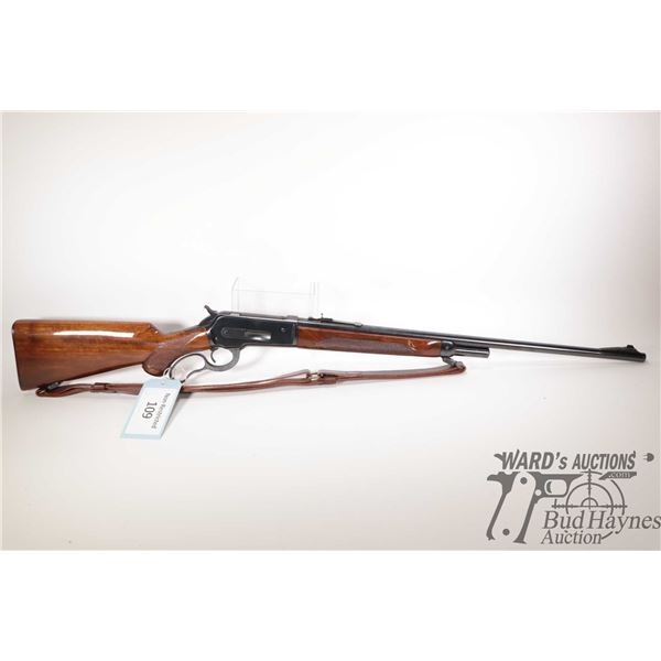 """Non-Restricted rifle Winchester model 71, 348 Win lever action, w/ bbl length 24"""" [Blued barrel and"""
