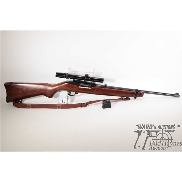 """Non-Restricted rifle Ruger model 10/22, 22LR ten shot semi automatic, w/ bbl length 18 1/2"""" [Blued b"""