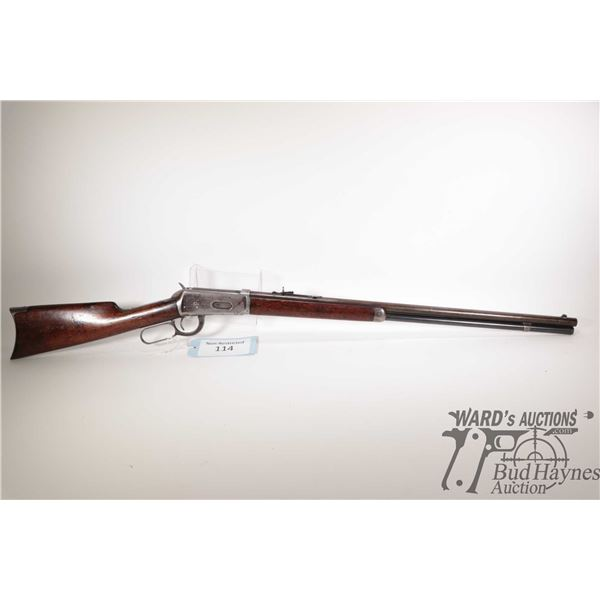 """Non-Restricted rifle Winchester model 1894, 38-55 lever action, w/ bbl length 26"""" [Blued barrel, rec"""