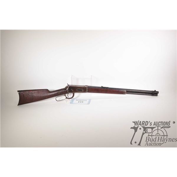 """Non-Restricted rifle Winchester model 1894, 30 W.C.F lever action, w/ bbl length 20"""" [Blued barrel,"""