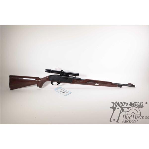 "Non-Restricted rifle Remington model Nylon 66, 22LR semi automatic, w/ bbl length 19 1/2"" [Blued bar"