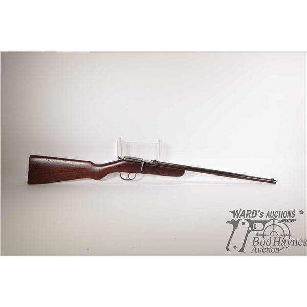 """Non-Restricted rifle Rabbit 22LR single shot bolt action, w/ bbl length 17"""" [Blued finish. Fixed sig"""