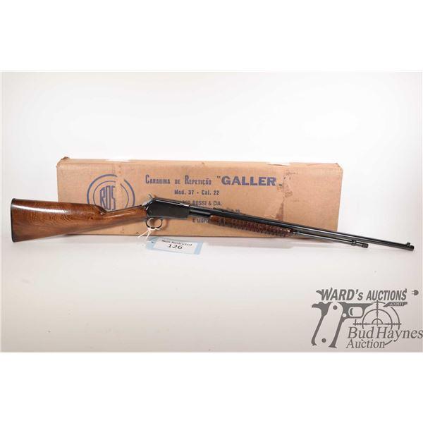 "Non-Restricted rifle Rossi model 37 ""Galler"", 22 S-L-LR pump action, w/ bbl length 23"" [Blued barrel"