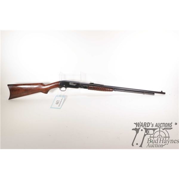 """Non-Restricted rifle Remington model 25, 25-20 pump action, w/ bbl length 23 3/4"""" [Blued barrel and"""