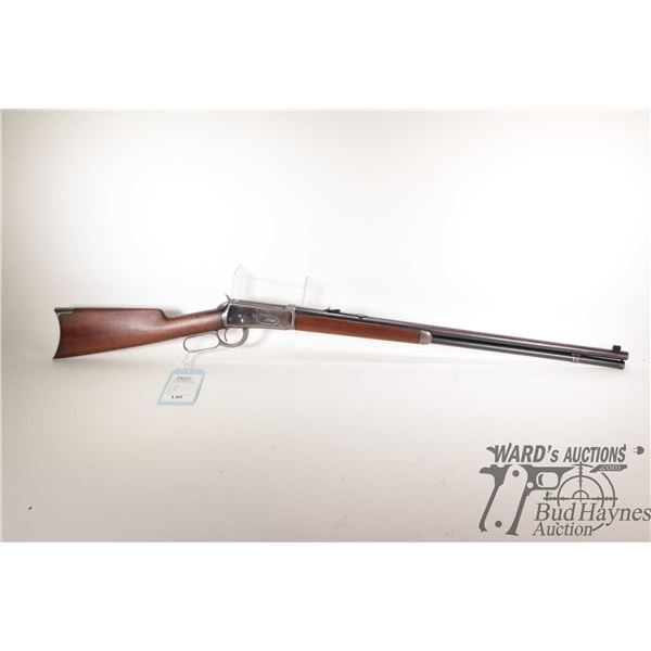 """Non-Restricted rifle Winchester model 1894, .38-55 lever action, w/ bbl length 26"""" [Blued barrel, re"""