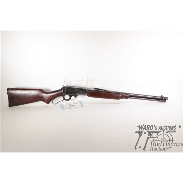 """Non-Restricted rifle Marlin model 36A, .32 Special lever action, w/ bbl length 20"""" [Blued barrel, re"""