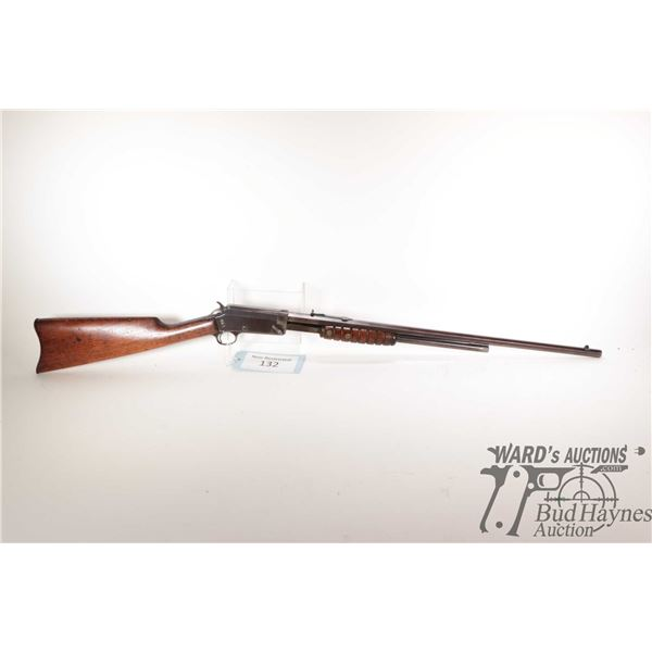 """Non-Restricted rifle Marlin model 27-S, 32-20 pump action, w/ bbl length 24 1/4"""" [Blued octagonal ba"""