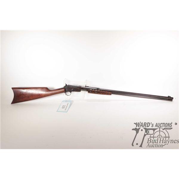 "Non-Restricted rifle Marlin model 20-A, 22 S-L-LR pump action, w/ bbl length 24"" [Blued octagonal ba"