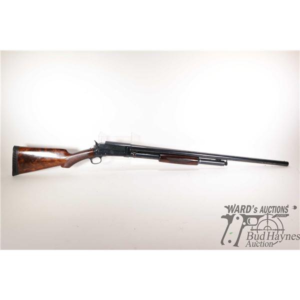 """Non-Restricted shotgun Marlin model 24 (Engraved), 12Ga pump action, w/ bbl length 28"""" [Blued barrel"""