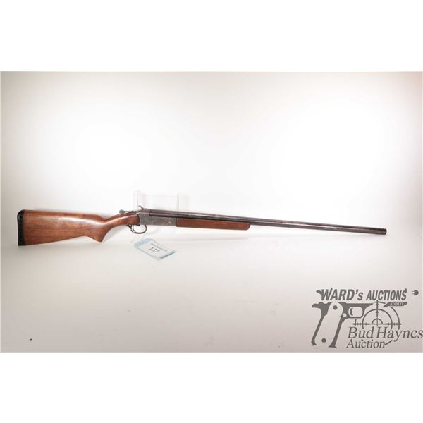 """Non-Restricted shotgun Cooey model 84, 12Ga single Shot hinge break, w/ bbl length 30"""" [Blued barrel"""