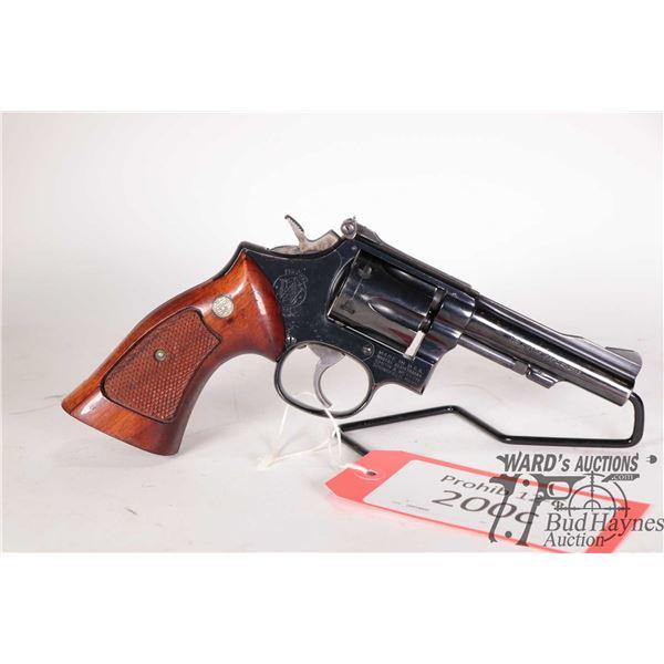 Prohib 12-6 handgun Smith & Wesson model 18-4, 22LR six shot double action revolver, w/ bbl length 1